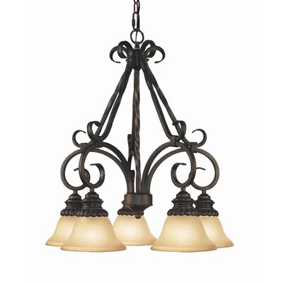 Willingham 5-Light Shaded Chandelier