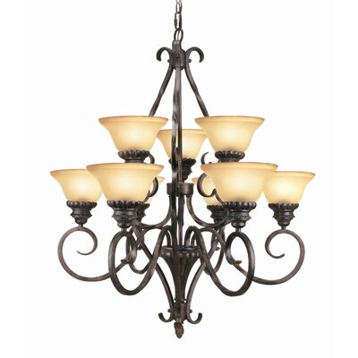 Willingham 9-Light Shaded Chandelier
