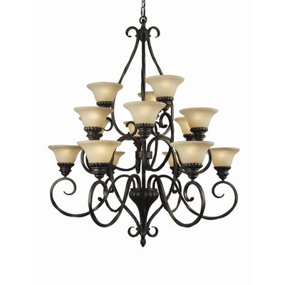 Willingham 15-Light Shaded Chandelier