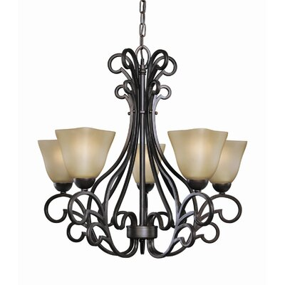Palermo 5-Light Shaded Chandelier