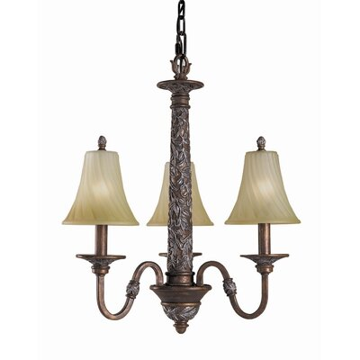 Vergennes 3-Light Shaded Chandelier