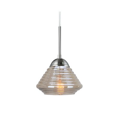 Queen Style 1-Light Mini Pendant Finish: Satin Nickel