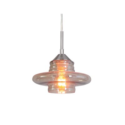 Transference 1-Light Mini Pendant Finish: Satin Nickel