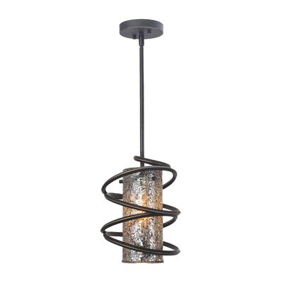 Loop 1-Light Mini Pendant Glass Color: Mirror Mosaic