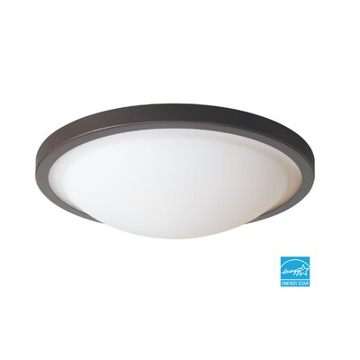 Energy Saving 2-Light Flush Mount Finish: Mahogany Bronze