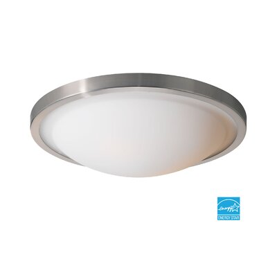 Energy Saving 2-Light Flush Mount Finish: Satin Nickel