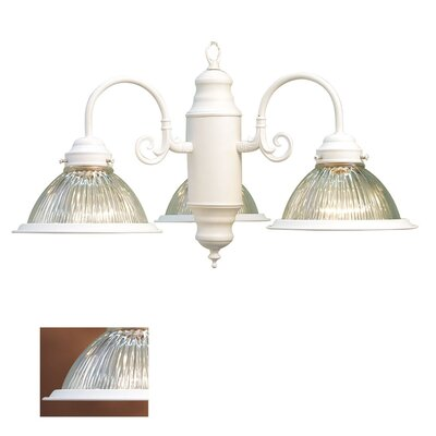 Basic 3-Light Shaded Chandelier Finish: White