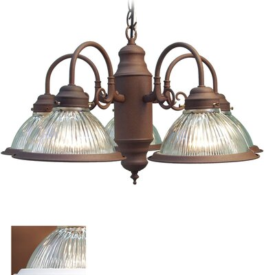 Basic 5-Light Shaded Chandelier Finish: Antique Bronze
