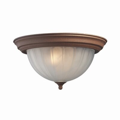 Basic 1-Light Flush Mount Finish: Antique Bronze