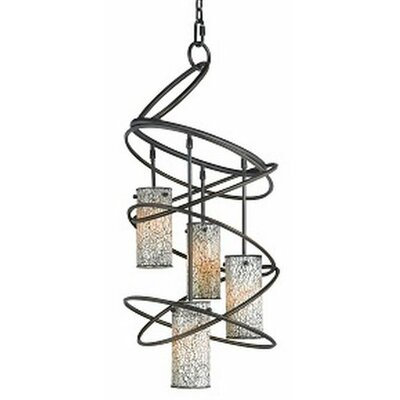 Loop 4-Light Shaded Chandelier Shade: White Mosaic