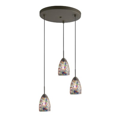 Venezia 3-Light Cascade Pendant Shade Color: Multi-color Mosaic