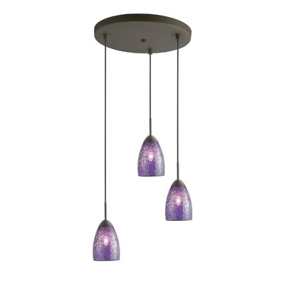Venezia 3-Light Cascade Pendant Shade Color: Purple