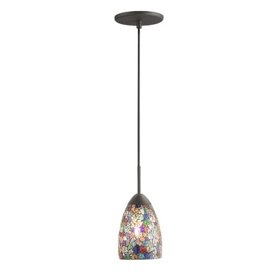 Venezia 1-Light Pendant Shade Color: Multi-color Mosaic