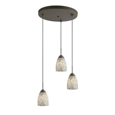 Venezia 3-Light Cascade Pendant Shade Color: White