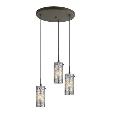 3-Light Schoolhouse Pendant Finish: Metallic Bronze