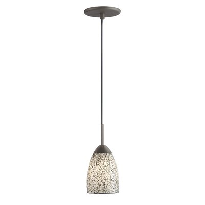 Venezia 1-Light Pendant Shade Color: White