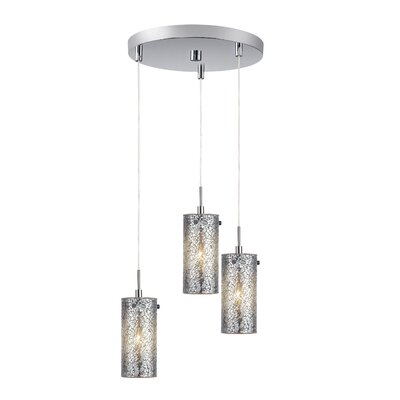 3-Light Schoolhouse Pendant Finish: Satin Nickel