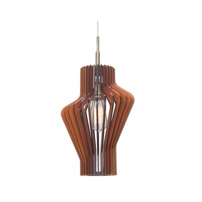 Canopy 1-Light Pendant Shade Color: Cherry