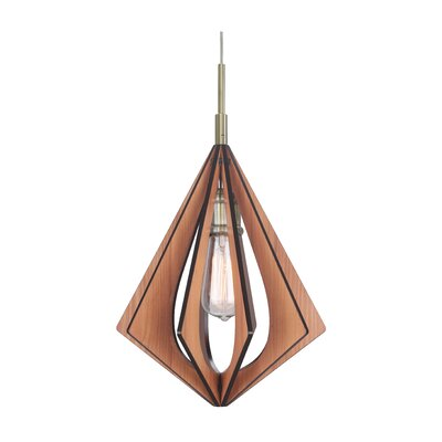 Canopy 1-Light Foyer Pendant Shade Color: Wenge, Finish: Satin Nickel