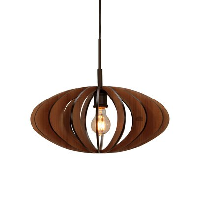 Bair Wicks Canopy 1-Light Pendant Finish: Metallic Bronze, Shade Color: Cherry