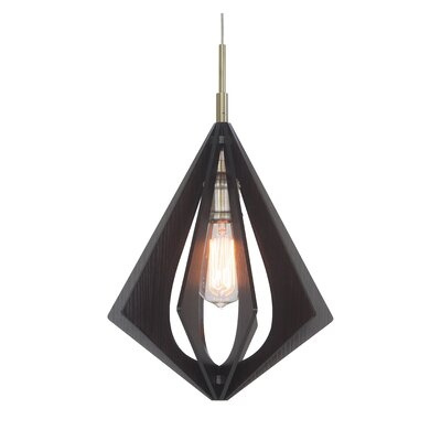 Canopy 1-Light Foyer Pendant Finish: Classic Brass, Shade Color: Wenge