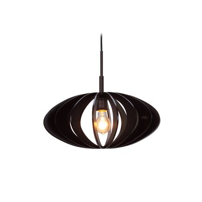 Canopy 1-Light Pendant Finish: Metallic Bronze, Shade Color: Wenge