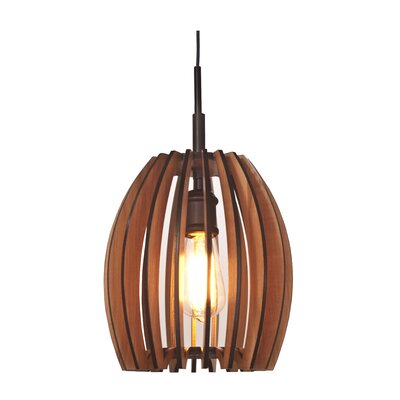 Canopy 1-Light Mini Pendant Finish: Metallic Bronze, Shade Color: Cherry