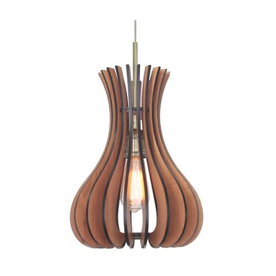 Canopy 1-Light Foyer Pendant Finish: Classic Brass, Shade Color: Cherry