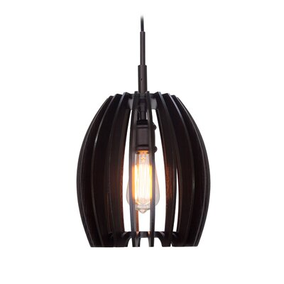 Canopy 1-Light Mini Pendant Finish: Metallic Bronze, Shade Color: Wenge
