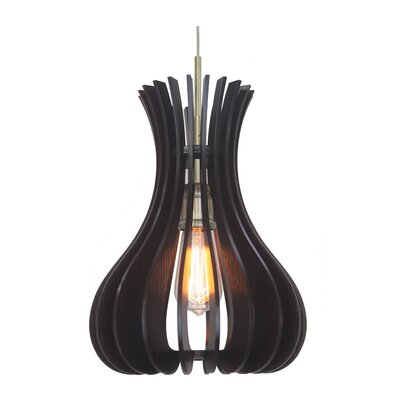 Canopy 1-Light Foyer Pendant Shade Color: Wenge, Finish: Metallic Bronze