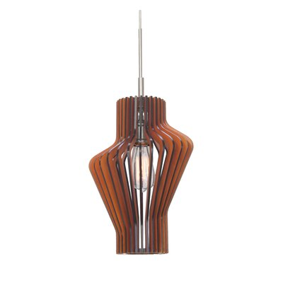 Canopy 1-Light Mini Pendant Shade Color: Cherry