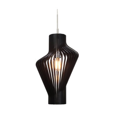 Canopy 1-Light Mini Pendant Shade Color: Wenge