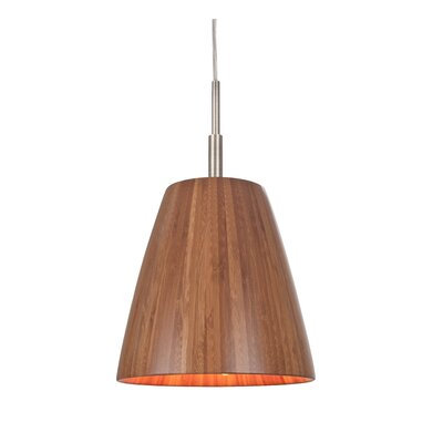 Sorg Adnap 1-Light Mini Pendant Finish: Satin Nickel