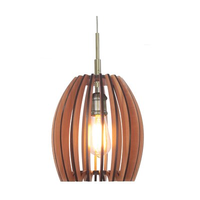 Canopy 1-Light Mini Pendant Finish: Classic Brass, Shade Color: Cherry