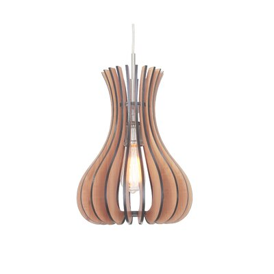 Canopy 1-Light Foyer Pendant Shade Color: Cherry, Finish: Satin Nickel