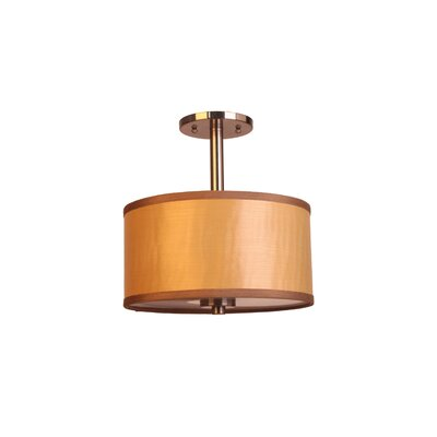 3-Light Semi-Flush Mount Shade Color: Nougat