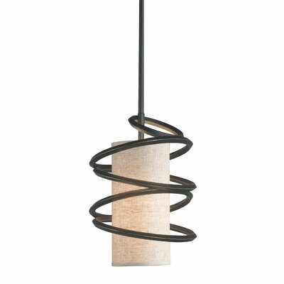 Loop 1-Light Mini Pendant Shade Color: Beige Shade
