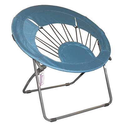 Bungee Chair Folding Dorm Lounge Chair Upholstery Color: Light Blue