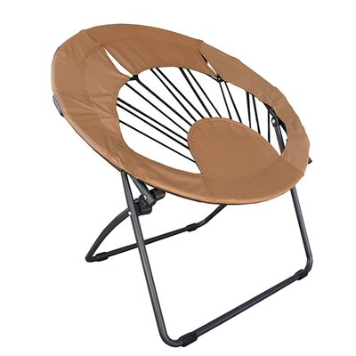 Bungee Chair Folding Dorm Lounge Chair Upholstery Color: Brown