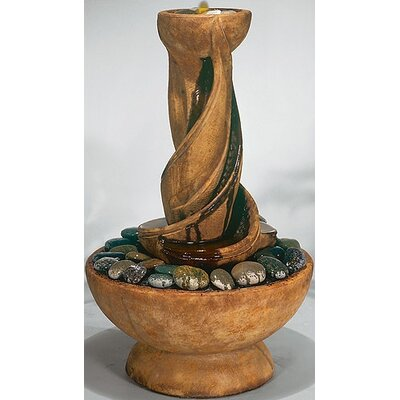 Image of Centerpiece Concrete Spiral Fountain Finish: Pompeii Antique Ash