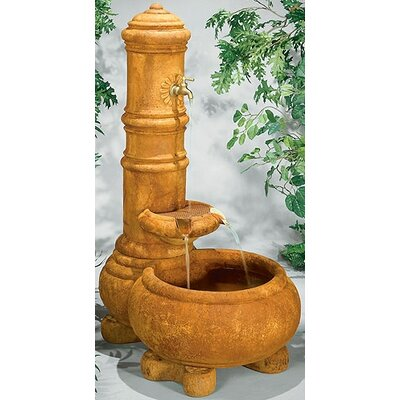 Image of Wall Concrete Cylinder Well Fountain Finish: Pompeii Antique Ash