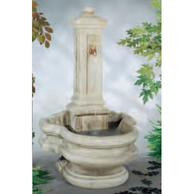 Image of Wall Concrete Well Fountain Finish: Pompeii Antique Ash