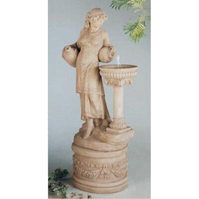 Image of Figurine Concrete Angella Fountain Finish: Pompeii Antique Ash