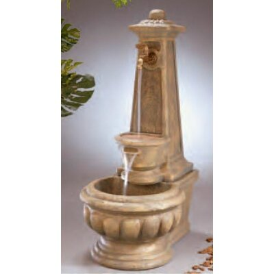 Image of Wall Concrete Calais Well Fountain Finish: Pompeii Antique Ash
