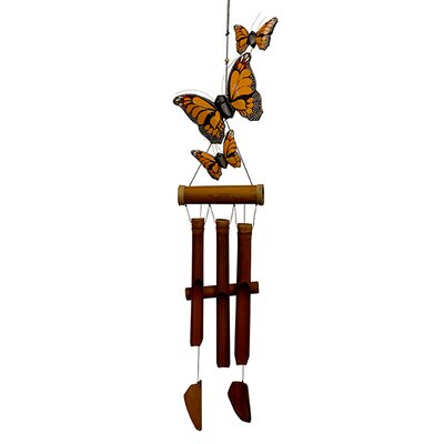 Monarch Butterfly Harmony Bamboo Wind Chime 186MH