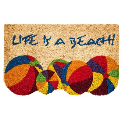 Life is a Beach Coir Mat
