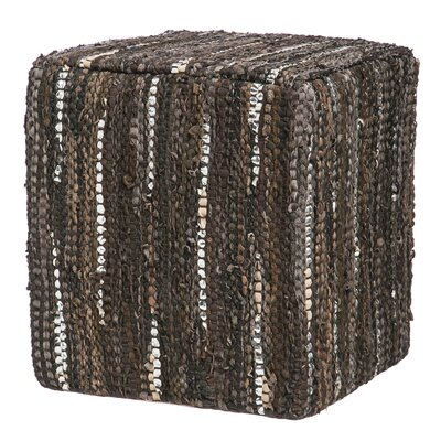 Furniture-Home on the Range Leather Pouf