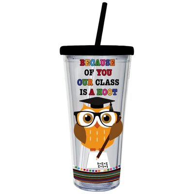 Class is a Hoot 20 oz. Insulated Tumbler 2ACL020