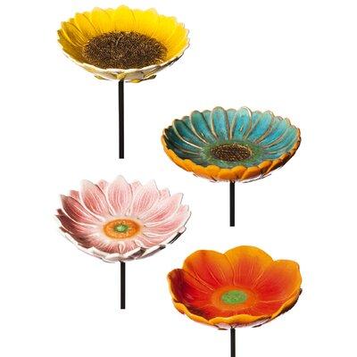 4 Piece Decorative Flower Garden Stake Set 491470