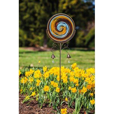 ArtfulGarden Hand Blown Swirls Glass Garden Stake 491313